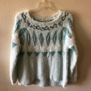 Lauren Conrad fluffy sweater